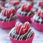 Red Raspberry, Triple Chocolate Cupcakes