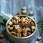 Gluten-free, Garlic Butter Croutons
