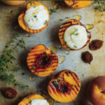Honey & Thyme Grilled Peaches with Ricotta