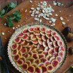Cashew Cream Honeyed Fig Tart