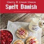 Cherry Cream Cheese Spelt Danish