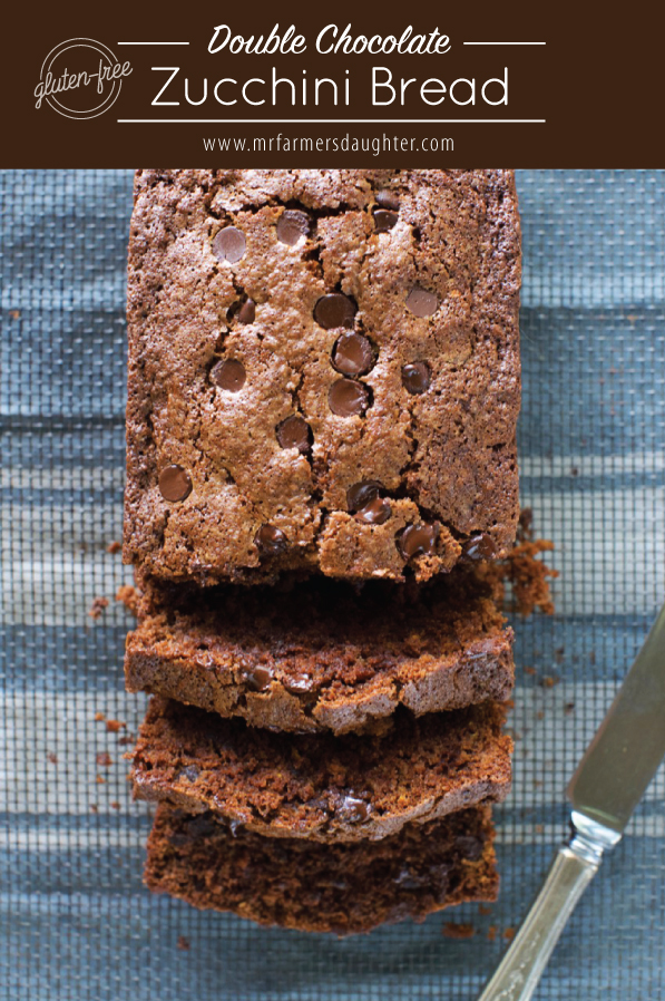 Gluten free double chocolate zucchini bread mr farmers daughter thats synonymous with zucchini for anyone who has a garden so prolific are these veggies that there must be millions of recipes to use them up forumfinder Images