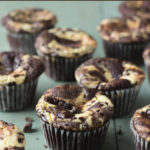 Low-Carb Black Bottom Cupcakes