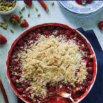 Strawberry Rhubarb Crumble {gluten-free}