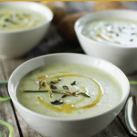 Garlic Scape and Potato Soup