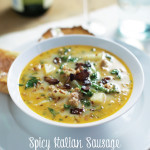 Spicy Italian Sausage and Kale Soup